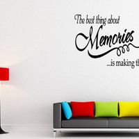 Memories Vinyl Wall Lettering Word Sticky by superdecals1 on Etsy