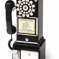 1950s Diner Style Phone Wall Mounted Telephone - Black  - Interiors - 59.99 - The Contemporary Home Online Shop