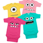 Girly Monsters 4 One Piece Set