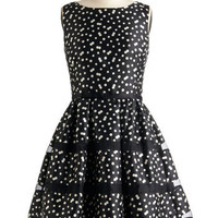 Rosé Bubbly Dress in Noir | Mod Retro Vintage Dresses | ModCloth.com