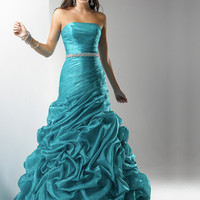 WowDresses — Glorious Ball Gown Strapless Neckline Floor Length Rhinestones Taffeta Prom/Evening Dress