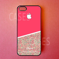 Iphone 5 Case Pink Sparkly Iphone Cover, Cute Apple Iphone 5 Cases
