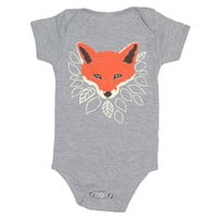Fox Baby One Piece Bodysuit Romper Jumper by GnomEnterprises