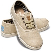 Natural Burlap Youth Cordones | TOMS.com