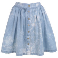 Cloud Print Skater Skirt