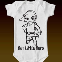 Legend of Zelda Our Little Hero Onesuit by eagleeyedesigns