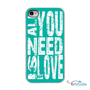 All You Need is Love - Choose Your Color - White or Black iPhone Case - IPhone 4, 4s, 5 Hard Cover -  artstudio54