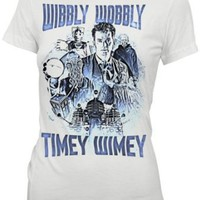 Doctor Who David Tennant Wibbly Wobbly Timey Wimey Juniors Tee