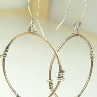 EarringsBronze Hoops Sterling Silver Bronze Mixed by ExCognito