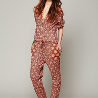 Free People Mixed Florals Jumpsuit