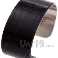 Vinyl Record Cuff Bracelet: Recycled and handmade in the USA