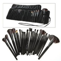 DragonPad® 32 PCS Makeup Brush Set + Black Pouch Bag