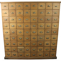 One Kings Lane - Indian Teak 72-Drawer  Cabinet