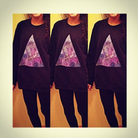 Galaxy Triangle Sweater