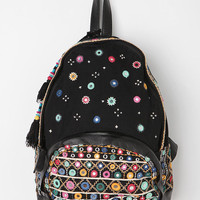 Ecote Embroidered Mirror Tassel Backpack
