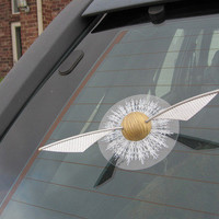 Harry Potter Gold Snitch Window Splat Adhesive by CoutureNaturally