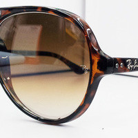 New Rayban Aviator Cats 5000 RB 4125 Ray ban Cat-5000 Tortoise