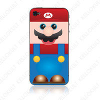 iPhone 4 Super Mario Mario Skin by kellokult on Etsy