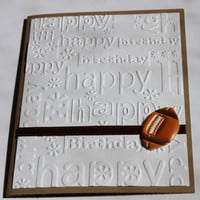 Football Birthday Card- Embossed