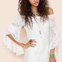 Bardot Crochet Dress in  Clothes Dresses at Nasty Gal