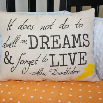 Dumbledore Quote Harry Potter Pillow