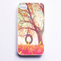 Iphone Case Rainbow Spring Tree Swing by SSCphotographycases