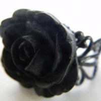 Midnight Spells Rose Ring