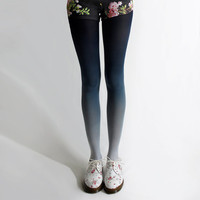 Ombré tights in Navy by BZRBZR on Etsy