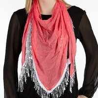 Sequin Fringe Scarf - Women&#x27;s Accessories | Buckle