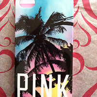 New Victoria&#x27;s Secret PINK Tropical PALM TREE  print iPhone 4 hard cover case