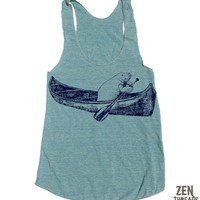 Womens MANATEE in a Canoe american apparel TriBlend by ZenThreads