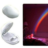 LED Rainbow Projector Room Night Light W/3 Display Mode - Amazon.com