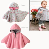 Fuloon Newborn Baby Toddler Girl Hoodie Cape Coat Snowsuit Jumpsuit For Spring or Autumn
