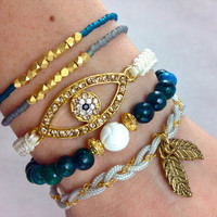 Truly Teal Arm Candy Bracelet Set