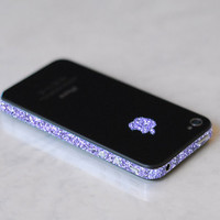 iPhone 4S Antenna Wrap Sparkling Amethyst by kellokult on Etsy