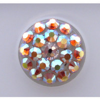 Sunflower AB Swarovski Elements Crystal Pop-Up Peel &amp; Stick iPhone Home Button 2 3 3G 4 4S 5 iPad 1 2 3 4 Mini iTouch All Version