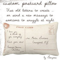 Custom Large Postcard Pillow for Home Decor  - Custom Designed the Way you Want 13x21 (lumbar)