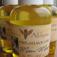 MAN MADE Preshave Oil 3 oz by BeehiveAlchemy on Etsy