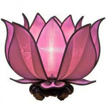 Blooming Lotus Table Lamp - Purple