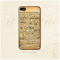 iPhone 4 and 4S case Doodle Illustration on Vintage Paper