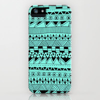 Fun - Black and Mint iPhone Case by Sandra Arduini | Society6
