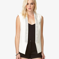 Sleeveless Studded Blazer