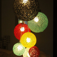 Huge 7 Sphere Light Hanging Cluster Chandelier by StuffByJenB