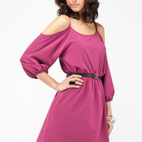 No Shoulders Dress in Berry :: tobi