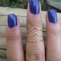 Brass Knuckle Stacking Rings Set of 3