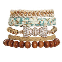 5 Piece Frienship Bracelet | Shop Jewelry at Wet Seal