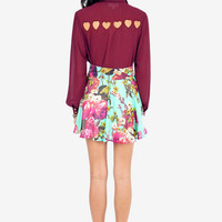 Fairly Flowering Skater Skirt $26