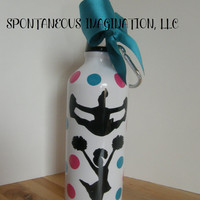 Personalized Cheerleading Water Bottle -Cheerleader Gift- Kid Gift Ideas