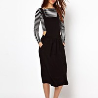 River Island Midi Length Pinafore Dress at asos.com