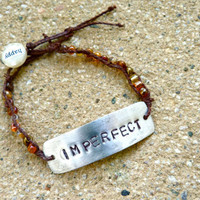 Imperfect But Happy Bead Wrapped Bracelet by Crafting4Cause